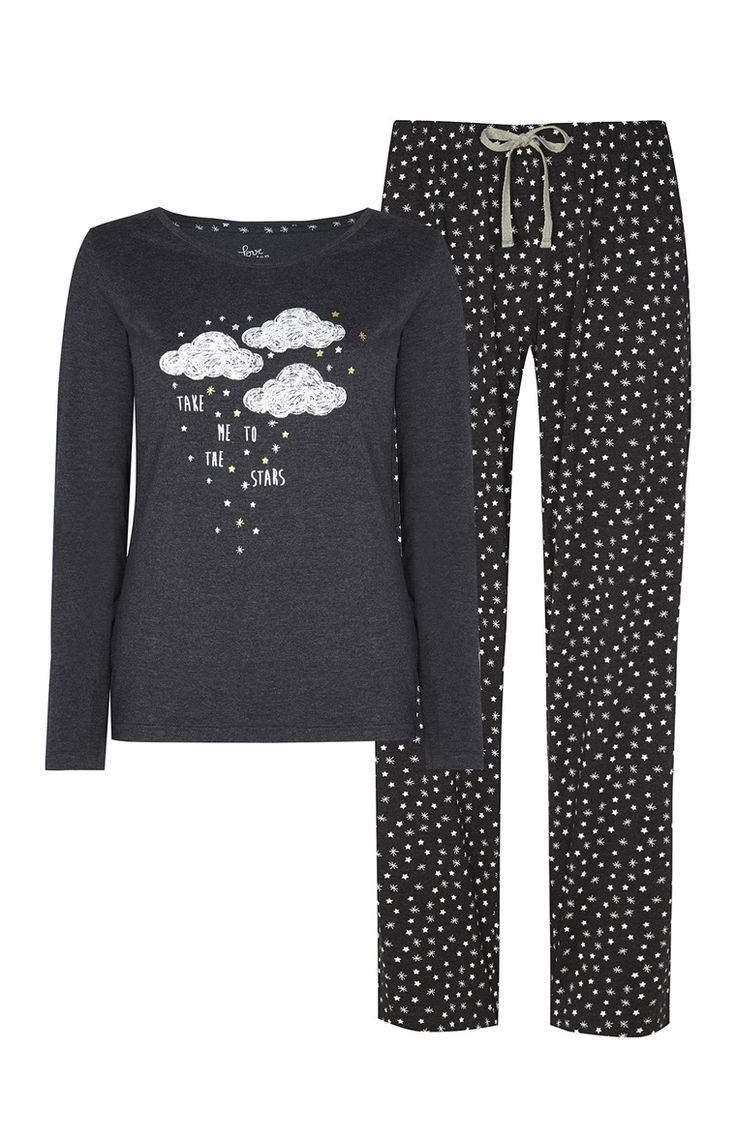 Primark london fashion week day in the life primark womenswear - Primark Pijama Nuvem E Estrelas Cinzento Carv O