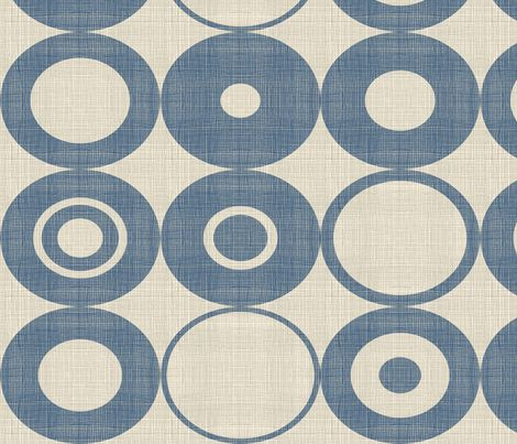 blue orbs fabric by chicca_besso on Spoonflower - custom fabric