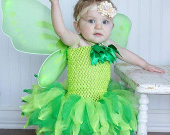 Tinkerbell Fairy Fancy Dress Costume by LittleAngelTutuDress