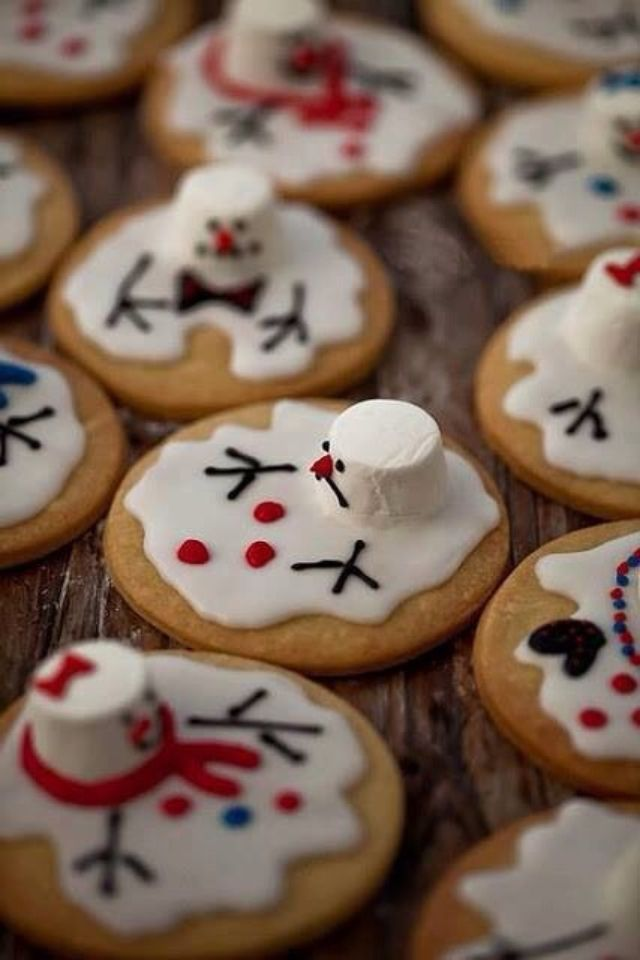 Melting #Snowman biscuits - what could be more appropriate for #Christmas in the southern hemisphere summer?!!