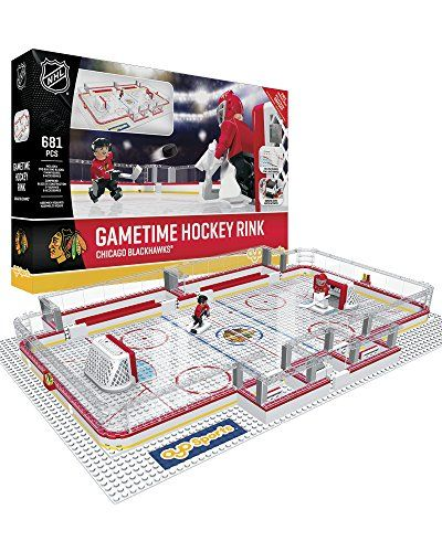 NHL Chicago Blackhawks Full Rink Set, Small, Black OYO
