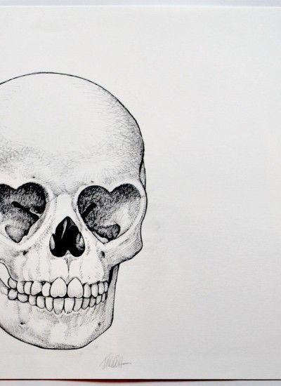 Heart Skull Sketch | Clutter Magazine