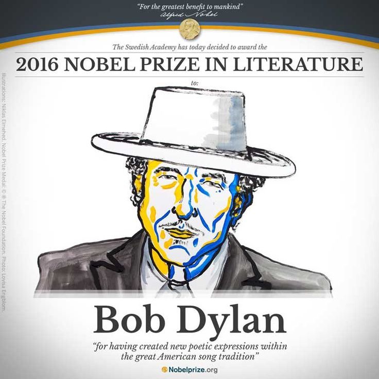 international news and headlines about Bob Dylan's Nobel Prize in Literature 2016