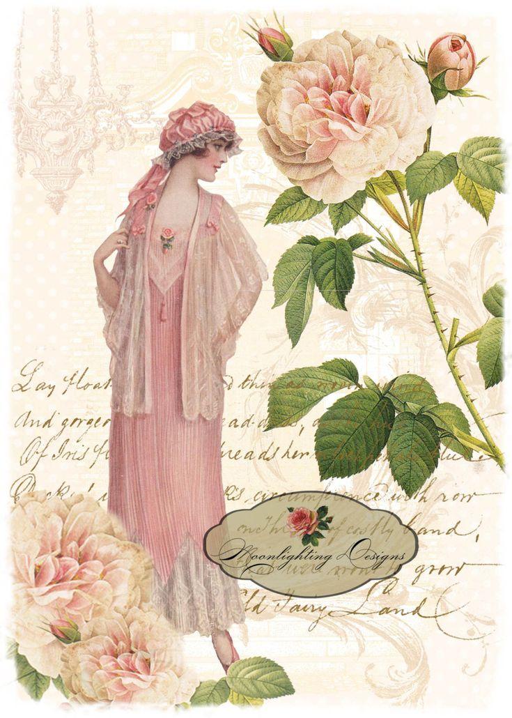 125 best laminas femeninas images on pinterest fashion - Laminas decorativas pared ...