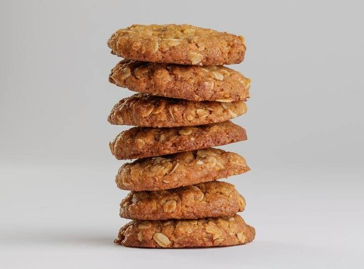 The best ANZAC biscuit recipe. Gita tried these. Yum! Cut the sugar to 3/4 cup, they were more than sweet enough and replaced it with extra coconut to 1 cup.
