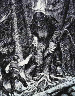 from Norwegian Folk Tales      Troll Stories illustrated by the great Norwegian painter/illustrator: Kittelsen -- worth looking into if not familiar with. And especially if you are a Troll fan.