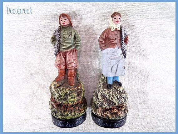 figurines en terre cuite anciennes l'Isle Adam souvenir de