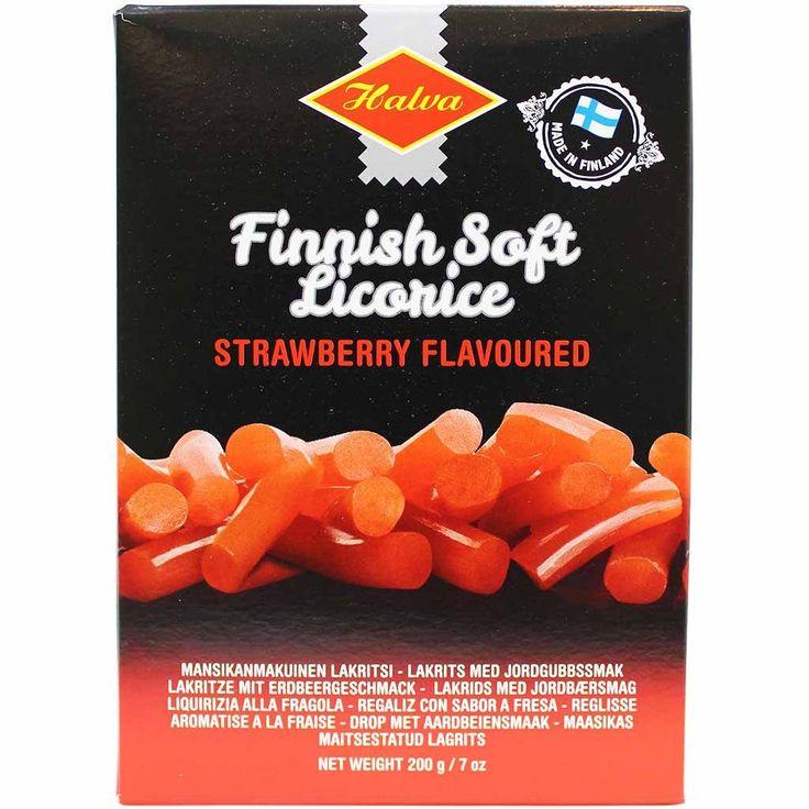 Halva finnish sweet strawberry licorice 7 oz 200g
