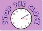 Stop the Clock. Telling Time Game