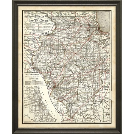 i pinned this illinois map framed wall art from the world. Black Bedroom Furniture Sets. Home Design Ideas
