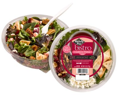 #1-This vegetarian salad is packed with so many revitalizing flavors and textures, it may quickly become your favorite salad! The Cranberry Walnut salad features a light bed of Spring mix topped with Dried Cranberries, Candied... #readypac and #fit&fresh