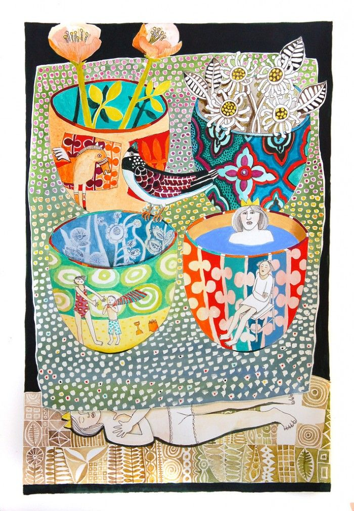 'Under the art' (2012) by Australian artist Cate Edwards (b.1957). source: the artist on flickr. via Patternbank