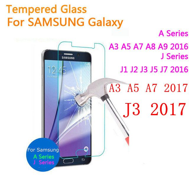 Tempered glass For Samsung Galaxy A3 A5 A7 J3 J7 2017 A320 A520 J1 J2 J3 J5 J7 A3 A5 A7 A9 2016 Screen Protector Protective Film