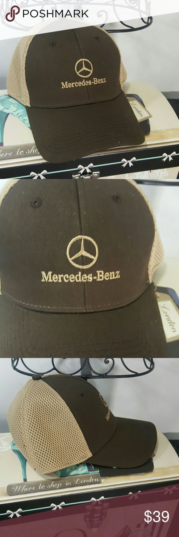 Nwot brown and tan Mercedes Benz ball cap Never got a chance to wear it,I only tried on at the dealership New Era Accessories Hats