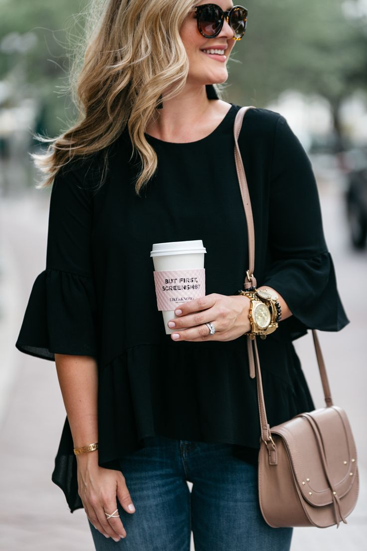 Cristin Cooper, The Southern Style Guide, Carolina Lifestyle Blog, Black Ruffle Top