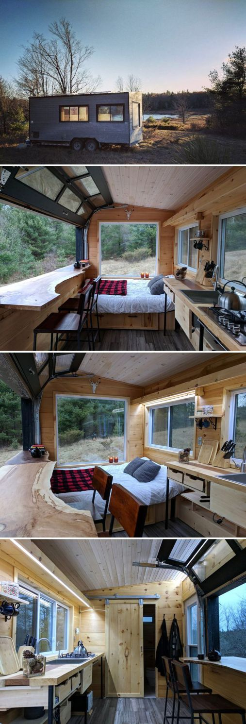I like how low key this design is. It doesn't try to be a legit cottage. Just a nook.  Tiny House 47