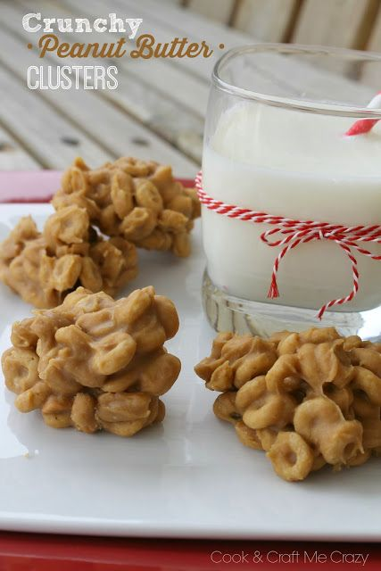 If you love peanut butter and no-bake treats, then these Crunchy Peanut Butter Clusters are for you! They're a great dessert to make with the kids!