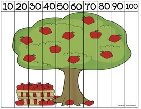 apple puzzles, free puzzles, apple activities, apple lessons, common core…