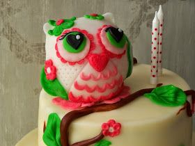 Owl cake topper. Tort z Sówką :-)