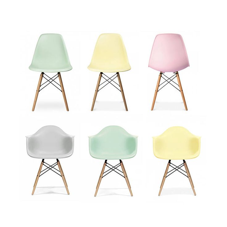Love the pastel colours of these Eames style dining chairs. Perfect for a kitchen or dining room update.