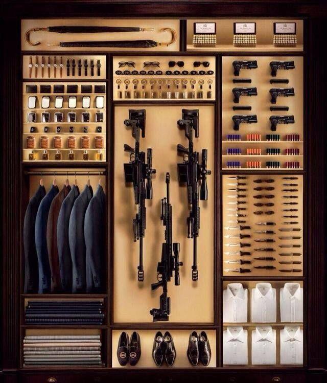 Psshhh... Well yeah! closet for a secret agent