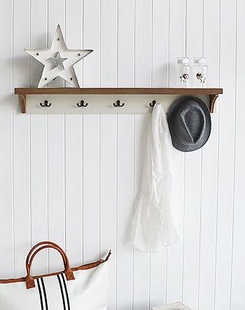 5 Hook Double Coat Rack Five Hooks For Coats Simple Hall Furniture