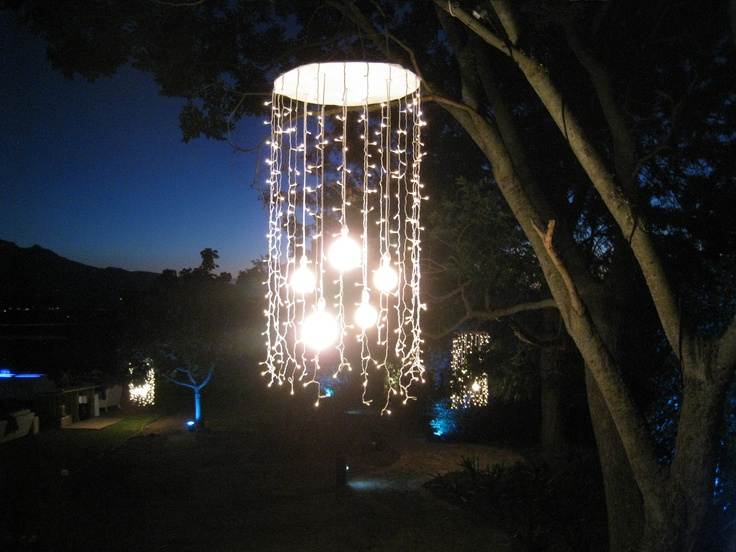 Fairy light pendant with naked bulb cluster by SMD Technical