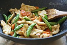 Spring vegetables and chicken breast strips sauteed with fresh ginger, lime juice, and a touch of soy sauce for a quick weeknight meal.  I love making stir fries for dinner, what's better than throwing veggies and protein into a wok and having dinner ready in minutes.     Honestly, when I make a stir fry, I usually use whatever vegetables I have on hand (great way to clean out the refrigerator). You can serve it as is or over brown rice, quinoa, noodles, whatever! I love the crunch of the…