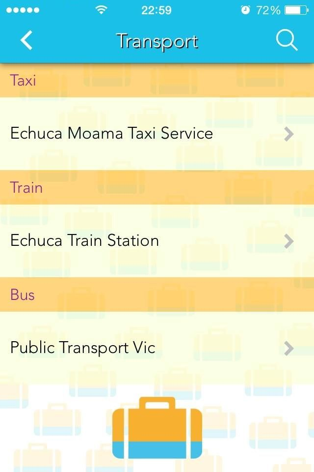 Appy Town app snapshot: Transport services in Echuca - Moama