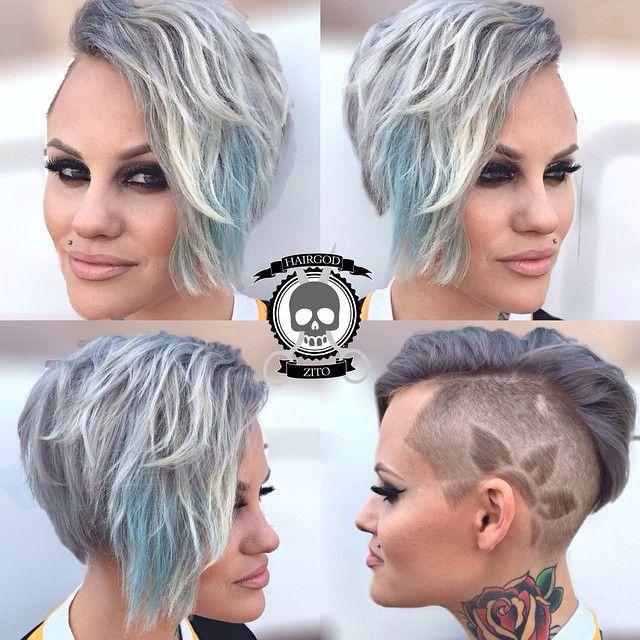 """""""The silver fox.. @brandizio #headrushsalon #hairgod_zito"""""""