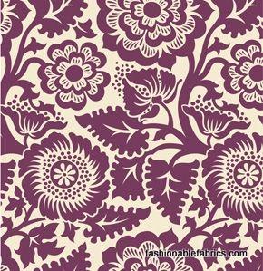 Heirloom Blockade Blossom by Joel DewberryFabrics Boutiques, Diapers Bags, Diaper Bags, Joel Dewberry, Blockprint Blossoms, Blockade Blossoms, Heirloom Blockade, Fabrics Jd48Amethyst, Fashion Fabrics