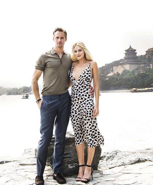 Alexander Skarsgard and Margo Robbie
