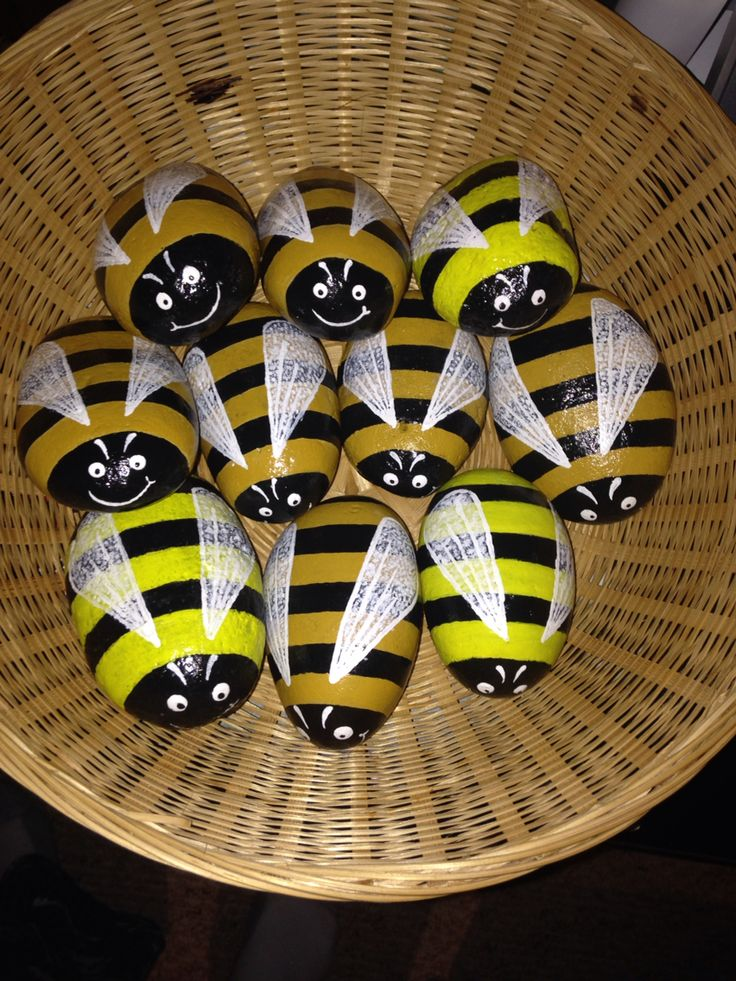 Bumble Bee Rock Buddzz Garden Decor $8 Each Or 3pc Set For $20 Available In  Ochre