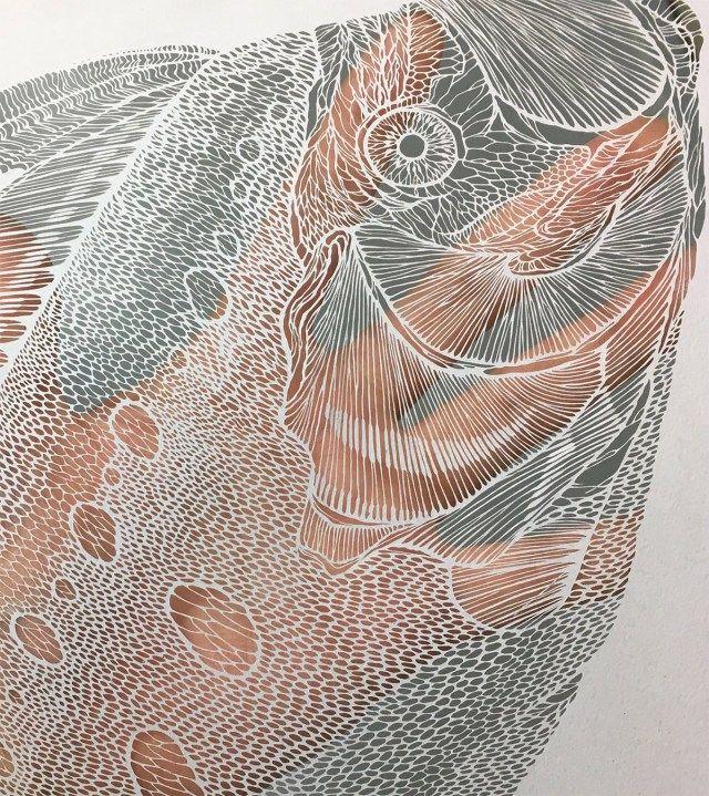 Attractive Aquatic Life With Fragile Paper Cutting Art by Kiri Ken.|FunPalStudio|Illustrations, Entertainment, Artist, drawings, paintings, beautiful, creativity, nature, Art, Artwork, paper cutting art, paper cutouts, Aquatic Life, sculptures, paper sculptures.