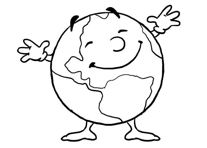 Free World Day Earth Printable Coloring Pages For