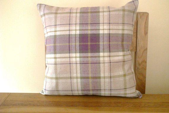 Purple Tartan Accesories For Living Room