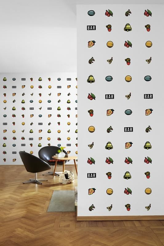 Try your luck with the wallpaper JACKPOT! #decor #tapeta #foto #poster