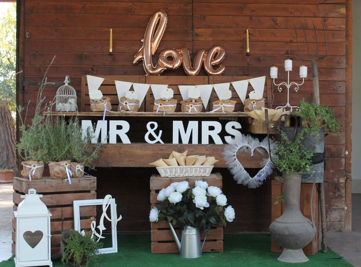 confettata country chic per matrimonio