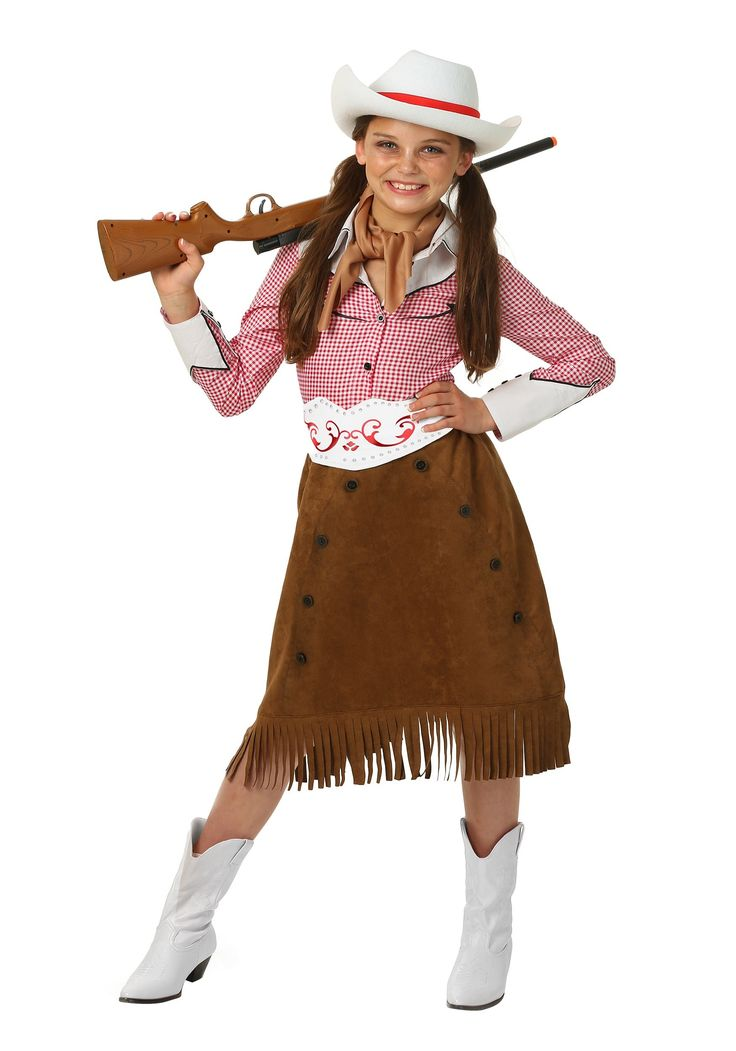 Cute kids Halloween costume ideas - Saddle up, cowgirl! This adorable girls Rodeo Cowgirl costume has the perfect amount of sass and style for your tween!