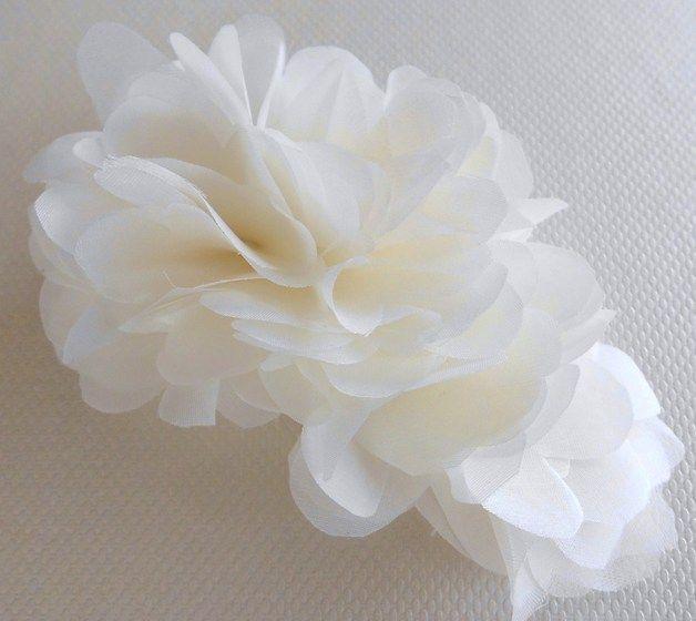 Haaraccessoires - *Elisa* Bruids Bloem Bridal Silk Flower - Een uniek product van Seta-e-perle op DaWanda €59