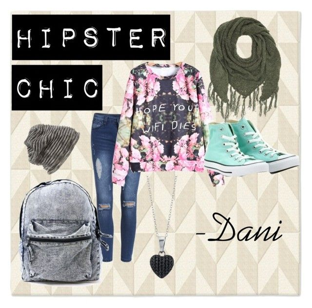 """Hipster Chic"" by danniyellington on Polyvore featuring West Elm, WithChic, Converse, Grace Hats, BERRICLE, Charlotte Russe, Hipster, denim, converse and winterfashion"