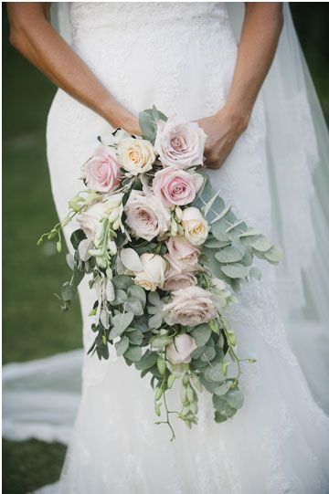 bridal bouquet - Pronovias wedding dress for an Elegant English country garden wedding in the back yard | I take You UK wedding blog