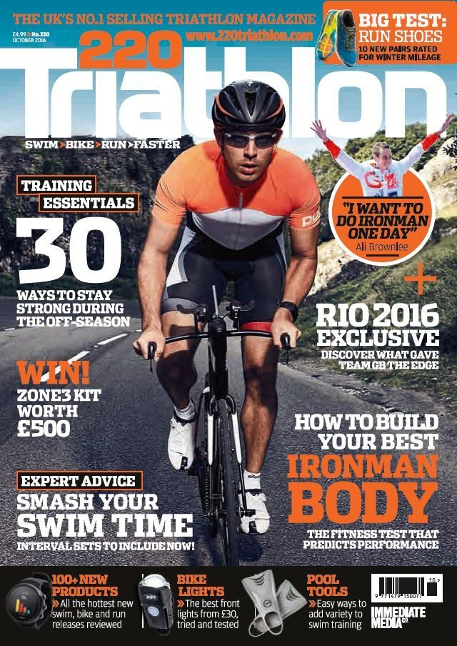 "In this issue:    WIIN! Zone3 Kit worth £500    Training essentials - 30 ways to stay strong during the off-season    Expert advice - Smash your swim time - Interval sets to include now!    Ali Brownlee - ""I want to do Ironman one day""    Big Test: Run shoes - 10 new pairs rated for winter mileage    Rio 2016 Exclusive: Discover what gave team GB the edge    How to build your best Ironman body - the fitness test that predicts performance    100+ new products - all the hottest new swim, bike…"