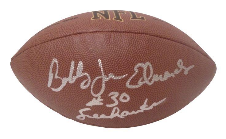 Bobby Joe Edmonds Autographed NFL Wilson Composite Football with Inscription, Proof Photo