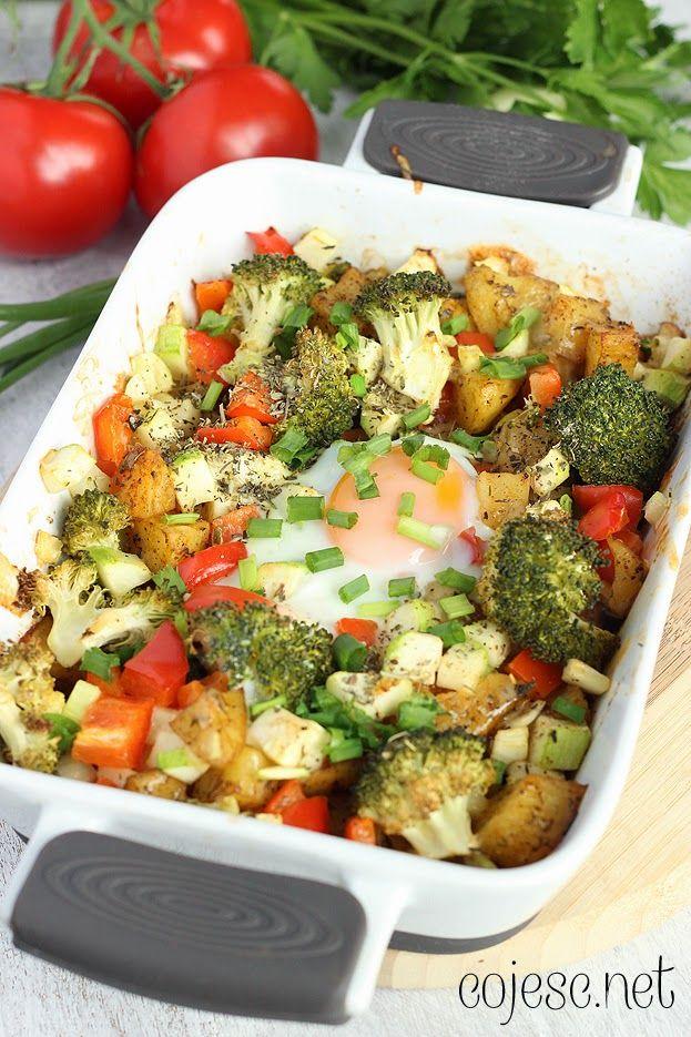 Aromatyczna - dietetyczna zapiekanka z jajem ;) | Zdrowe Przepisy Pauliny Styś
