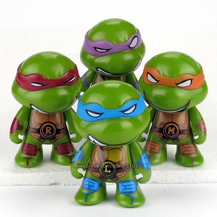 Teenage Mutant Ninja Turtles Figuras 7cm 4pcs/set Action TMNT Figures Toys For Kids Christmas Gift Dolls Brinquedos Juguetes
