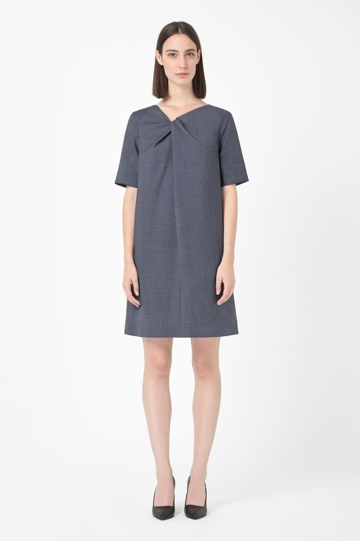 Gathered neck dress by COS