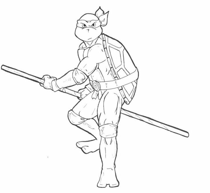 Teenage Mutant Ninja Turtles Leonardo Coloring Page Free