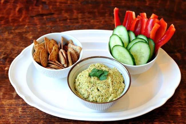 Edamame Dip from lafujimama.com | Forks Over Knives | Pinterest