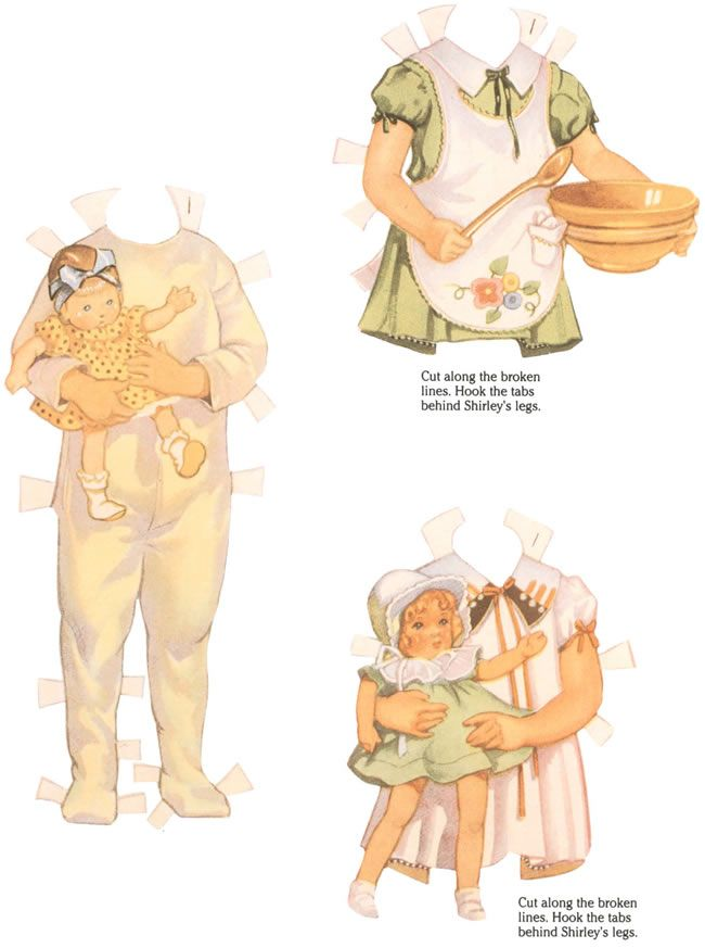 original shirley temple paper doll costumes -- a dover book.